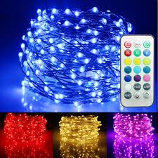 rgb string lights with remote waterproof 13 colors 2