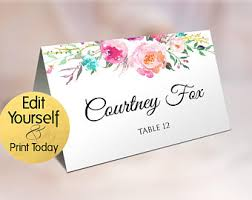 Table Card Template by Wedding Place Card Printable Name Card Template Meal Choice