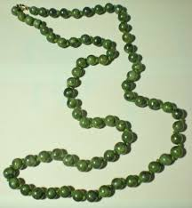 beaded jade necklace images Antique jade necklace 70 round natural nephrite jade beads vintage JPG