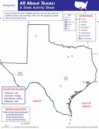 texas geography worksheet education com
