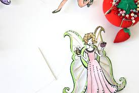 fairy mobile coloring page craft tutorial arts u0026 crackers