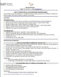 Sap Abap Resume Format Resume Format For Sap Fico Freshers Resume Format