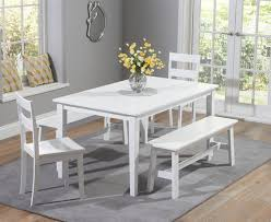 Oak Dining Table Bench Dining Tables Fascinating White Dining Table Set Design Ideas
