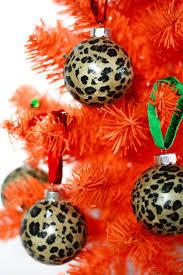 diy leopard print ornaments and easy tree decor