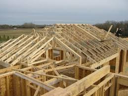 Hips Roof Trusses Installed Jpg