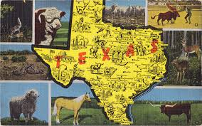 Van Texas Map Map Postcards Postcard Roundup