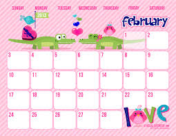 8 best images of cute free printable calendar templates 2016