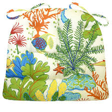 Replacement Patio Cushions Amazon Com Medium Patio Chair Cushion Tropical Fish Indoor