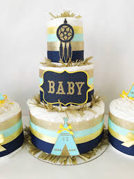 gold baby shower decorations tribal baby shower cakes set of 3 baby shower centerpieces