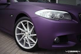 matte bmw purple madness matte bmw 5 series boasts aftermarket parts