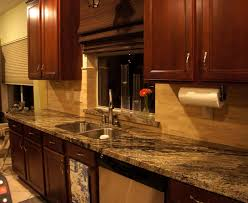 Kitchen Cabinets Edmonton Kitchen Stone Backsplash Ideas With Dark Cabinets Fence Laundry