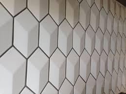 Hexagon Tile Kitchen Backsplash Mrs Cake A Geometric Tiled Backsplash