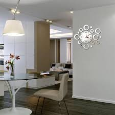 Decorative Wall Clocks For Living Room Diy Wall Clock For The Better Ornament Inside Of A Room