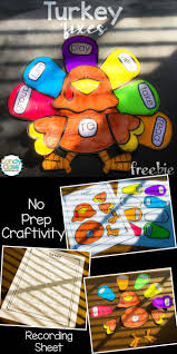 prefix thanksgiving turkey craft freebie turkey craft prefixes