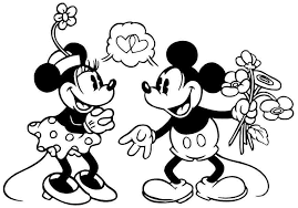 cartoon disney minnie mouse coloring pages free for boys girls