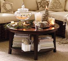 how to decorate a round coffee table for christmas decorating a round side table laphotos co