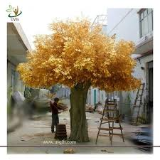 uvg gre06 golden indoor home decorative artificial tree with
