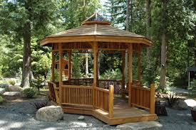 Bamboo Ideas For Decorating by Outdoor Gorgeous Bamboo Garden Gazebo Design Wood Gazebo