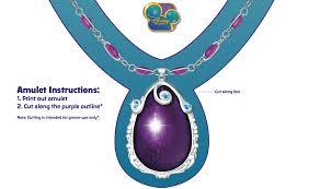 sofia u0027s amulet necklace crafts disney junior