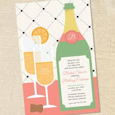 chagne brunch invitations sweet wishes mimosa brunch bridal shower invitations printed