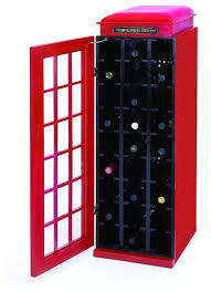Home Bar Cabinet Old Fashioned Phone Booth Wine Cabinet Red Home Bar Decor 50118