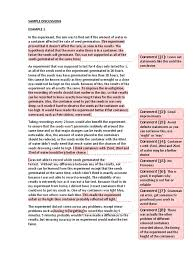 science fair report template scientific report discussion exles experiment seed
