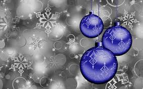 blue christmas ornaments full hd wallpaper and background