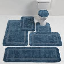 Blue And Brown Bathroom Rugs Light Blue Bathroom Rugs Bath Mat Set And Brown Fusion Terrell