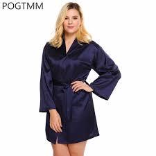 robes de chambres femmes 4xl grande taille en satin de nuit robe de chambre femmes à
