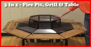 Fire Pit Grille by The Three In One Table Fire Pit And Grill Gotta Go Do It