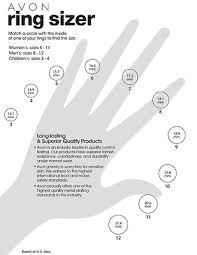 men ring size learn avon ring size chart ebay