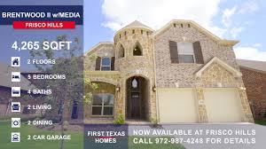 First Texas Homes Hillcrest Floor Plan Now Available 13809 Bluebell Drive Little Elm Tx 75068 For