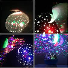 Star Light Projector Bedroom - mkqpower moon star lighting lamp 4 led beads rotating romantic
