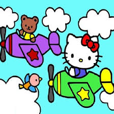 kitty airplane puzzle kids games hellokids