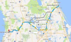 Map Of Daytona Beach From Spring Hill To U2026 Homes Of Hernando