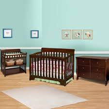 black crib with changing table delta 3 piece nursery set eclipse 4 in 1 convertible crib