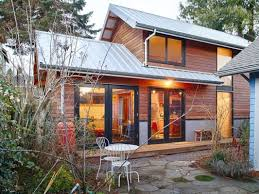 salvaged style 550sf backyard cottage built with blue jeans