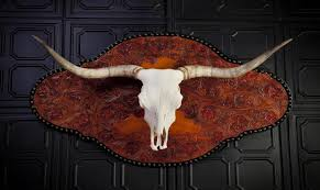 Texas Longhorn Home Decor Articles With Plastic Longhorn Skull Wall Decoration Tag Skull