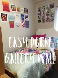 How To Design A Gallery Wall by Easy Dorm Gallery Wall