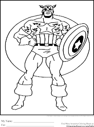 avengers captain america coloring coloring pages