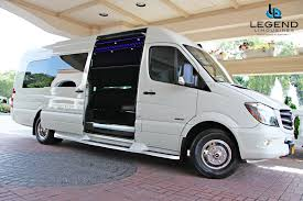legend limousines inc u2013 white mercedes benz sprinter limo for
