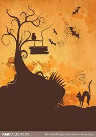 fab vinyl spooky castle halloween backdrop