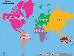map continents world continents map continents map of world seven continents