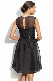 sale black a line sleeveless zipper knee length prom dresses