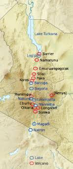 geographical map of kenya great rift valley kenya