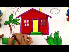 coloring building and skyscarapers learn types of houses for kids