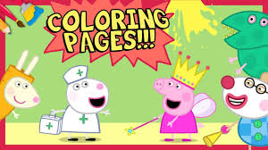 new peppa pig coloring pages princess peppa u0026 dinosaur george