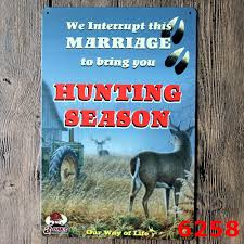 popular hunting metal sign buy cheap hunting metal sign lots from