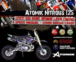 motocross bikes for sale ebay new atomik nitrous 125cc pit trail motor dirt bike offroad mx