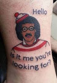 where u0027s waldo tattoo or is it lionel ritchie tattoo